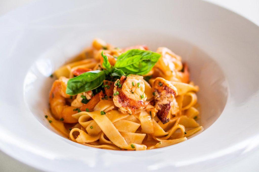 Lobster Tagliatelle alla Aurora at Bianco Italian Ristorante