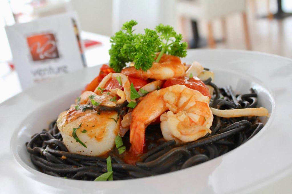 Seafood at Bianco Italian Ristorante, House Special Seafood Spaghetti Nero